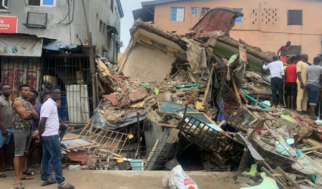 Building collapse in Lagso